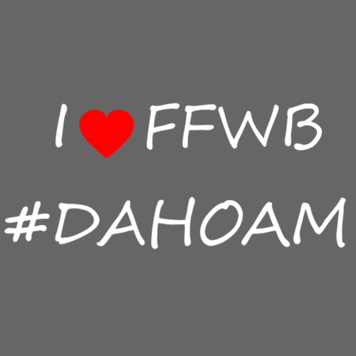 I ❤️ FFWB #DAHOAM - Männer Premium T-Shirt
