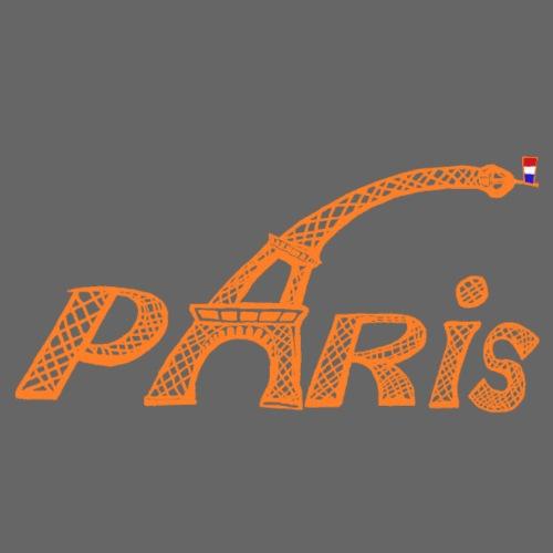 Paris orange - T-shirt Premium Homme