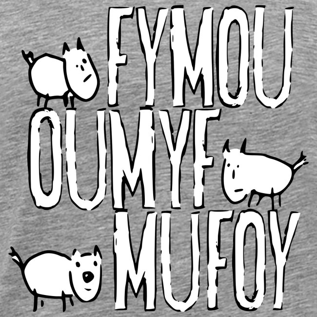 Three friends Fymou, Oumyf and Mufoy