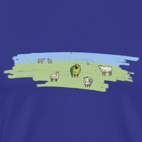 buntes Schaf am Deich - Männer Premium T-Shirt