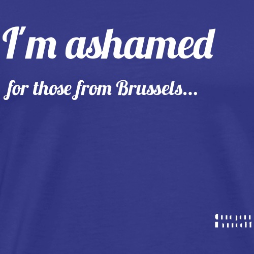 I'm ashamed for those from Brussels - Koszulka męska Premium