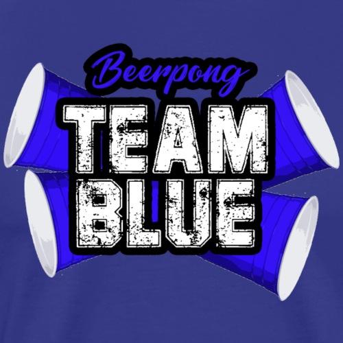 Beerpong team blue - Mannen Premium T-shirt