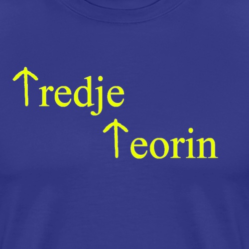 Tredje teorin - Premium-T-shirt herr