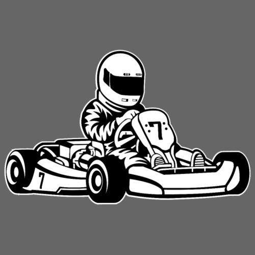 Go-Kart / Go-Cart 01_schwarz weiß - Männer Premium T-Shirt