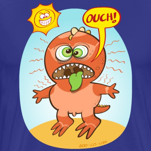 Bad summer sunburn for a funny dinosaur - Men's Premium T-Shirt
