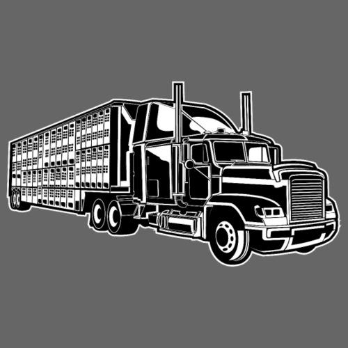 Truck / Lkw 01_schwarz weiß - Männer Premium T-Shirt