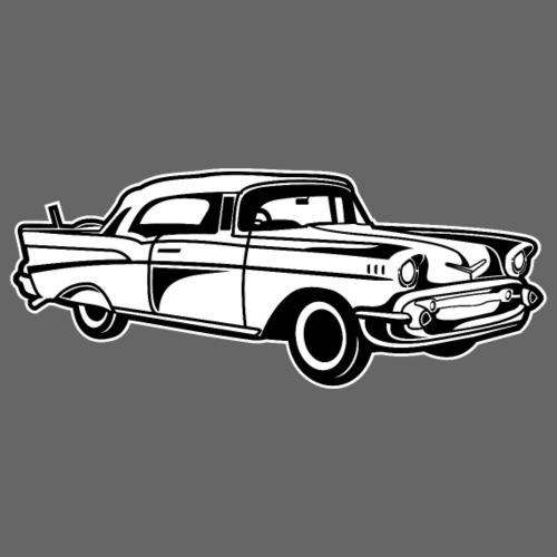Chevy Bel Air / Oldtimer 01_schwarz weiß - Männer Premium T-Shirt