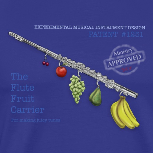 Experimental Musical Instruments - Flute Fruit - Men's Premium T-Shirt