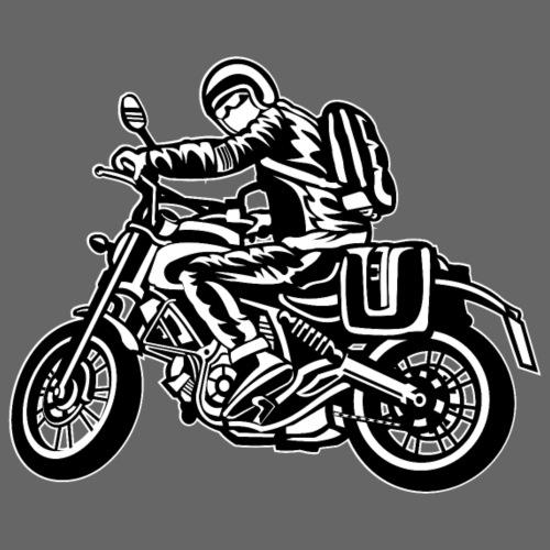Motorrad Touring / Motorcycle 01_schwarz weiß - Männer Premium T-Shirt