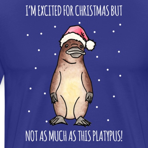 Christmas Platypus - Men's Premium T-Shirt