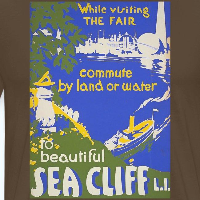 Lake travel vintage poster