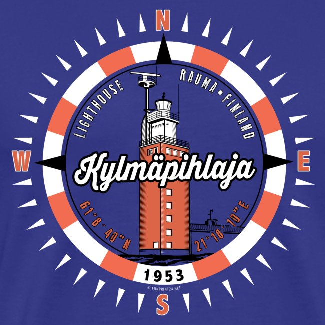 Finnish Lighthouse KYLMÄPIHLAJA Textiles, and Gift
