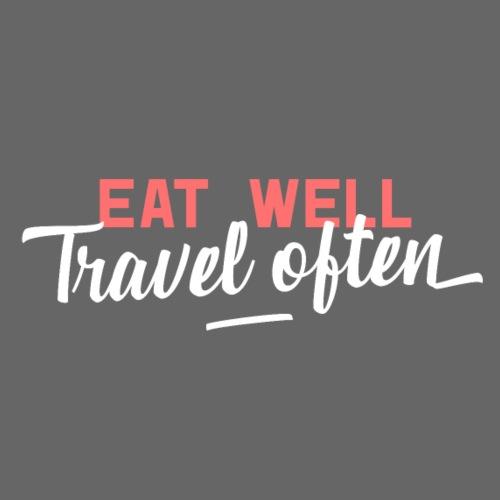 Eat Well Travel Often - Männer Premium T-Shirt