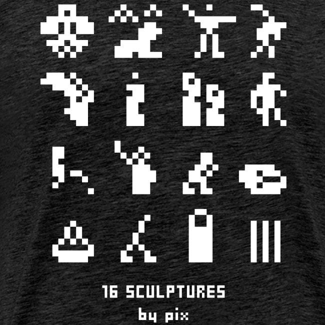 16 sculptures