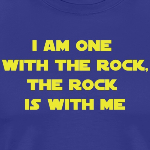 One with the rock - Premium T-skjorte for menn