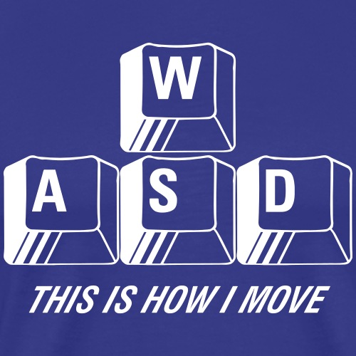 WASD This is how I move - Premium-T-shirt herr