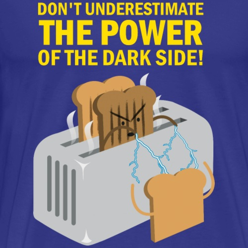Kawaii T Shirt Design Dark Side of Toast - Männer Premium T-Shirt