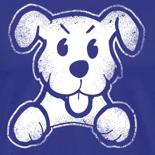 Böser lustiger Comic Hund witzig Wuff Geschenk - Männer Premium T-Shirt