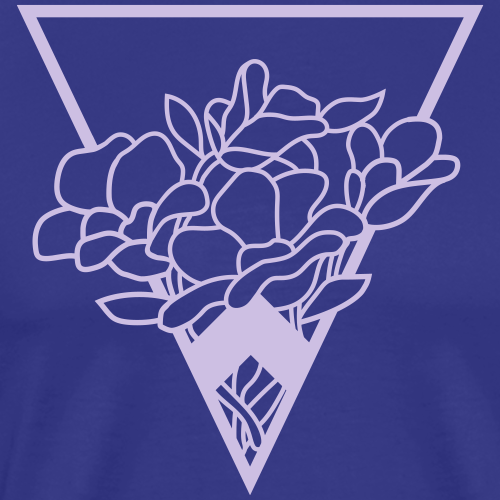 flower bouquet in a triangle - Men's Premium T-Shirt