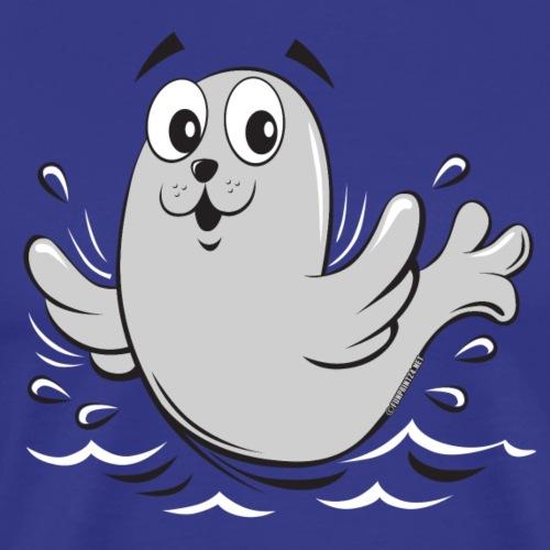 FUN BABY SEAL, SAIMAANNORPPA TEKSTIILIT (10-43) - Miesten premium t-paita