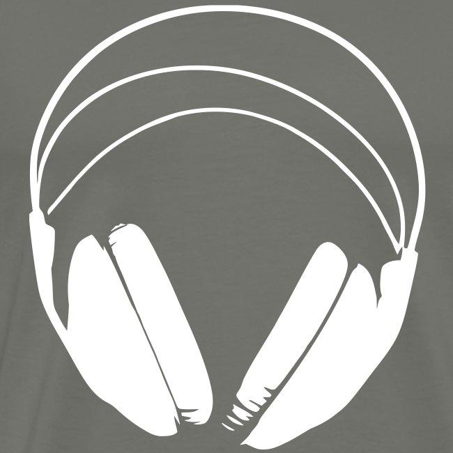 Casque blanc, logo de podradio vectorisé