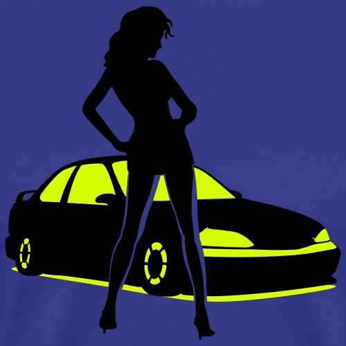 Car Tuning Girl (Coupe) - Men's Premium T-Shirt