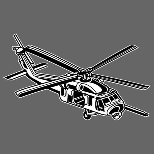Hubschrauber / Helikopter 01_schwarz weiß - Männer Premium T-Shirt