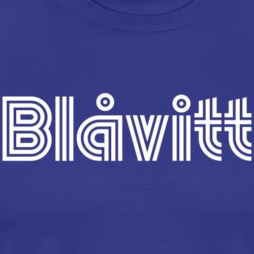 Blåvitt Retro Vit - Premium-T-shirt herr
