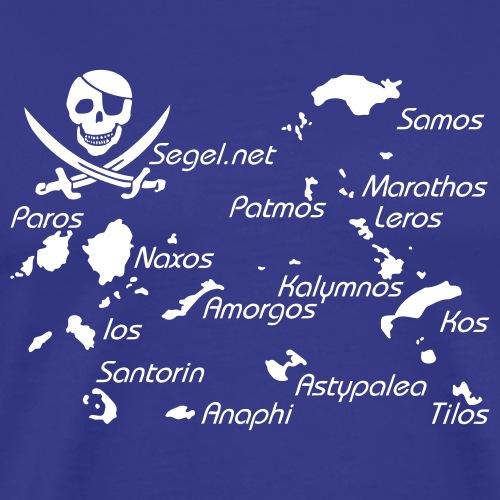 Crewshirt Motiv Griechenland - Männer Premium T-Shirt