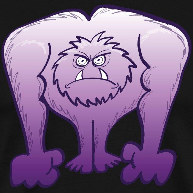 Abominable homme des neiges violet fou de rage