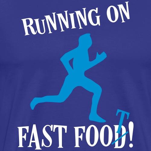 Sport Fitness Laufen Sprüche - Fast Food Läufer - Männer Premium T-Shirt