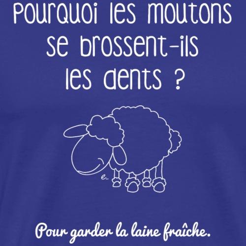 La laine fraîche (blanc) - T-shirt Premium Homme