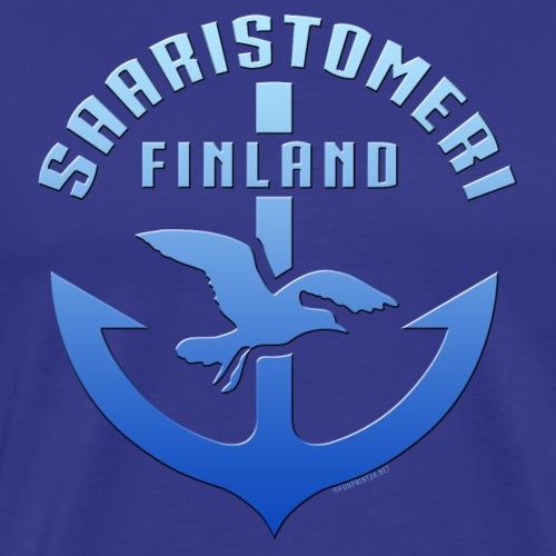 SAARISTOMERI FINLAND ANKKURI Tekstiilit ja lahjat - Miesten premium t-paita