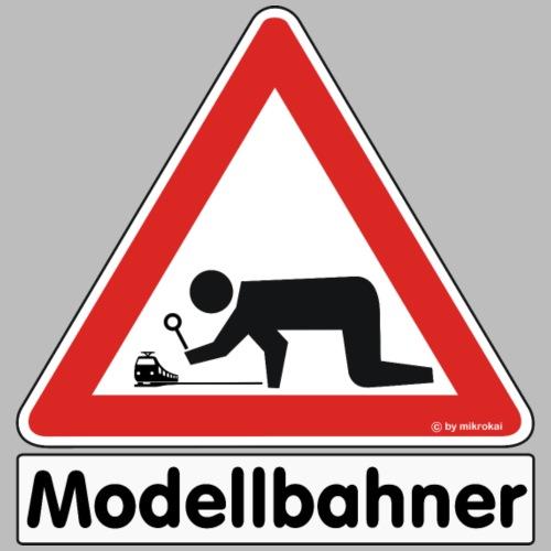 Warnschild Modellbahner E Lok - Männer Premium T-Shirt