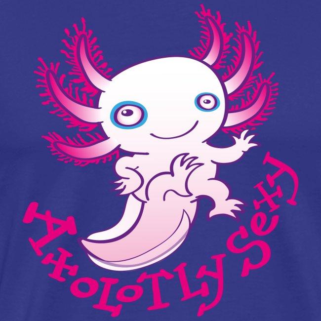 Axolotl mignon posant, souriant et saluant
