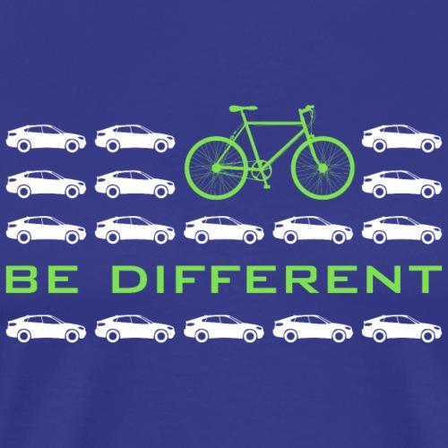 be different Auto Fahrrad Bike car anders einzig - Men's Premium T-Shirt