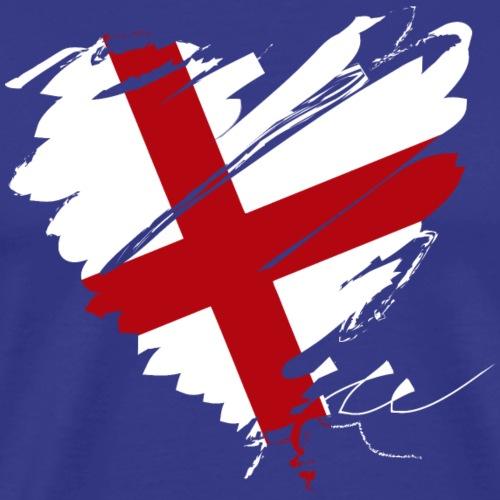 Herz Heart England Fußball Football Tor Goal - Men's Premium T-Shirt