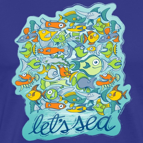 Let's see how to preserve the splendor of the sea - Men's Premium T-Shirt
