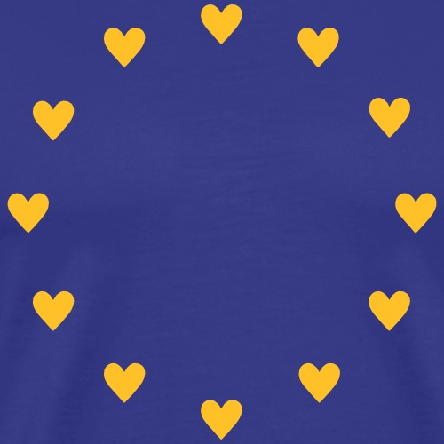 Europa Herzen, Pulse of EU, I love Europe, Flagge - Männer Premium T-Shirt