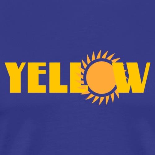 yellow - Männer Premium T-Shirt