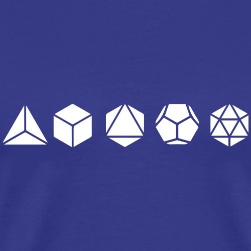 Platonische Körper, Heilige Geometrie, Mathematik - Männer Premium T-Shirt