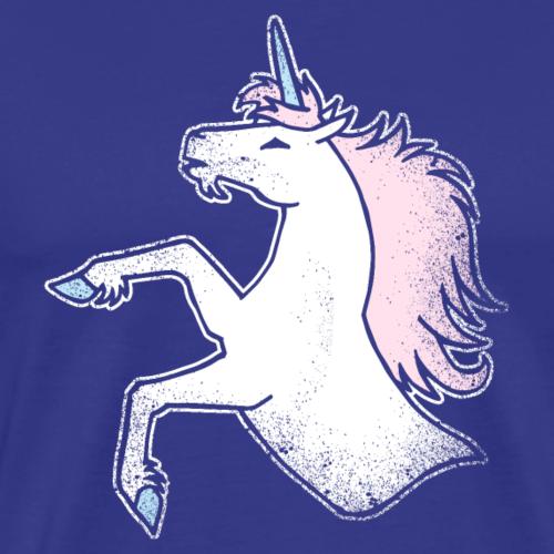 Wildes Einhorn Steigend Grunge Lustig Geschenk - Männer Premium T-Shirt