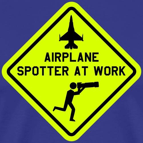 T-shirt mil. airplane spotter at work. - Mannen Premium T-shirt
