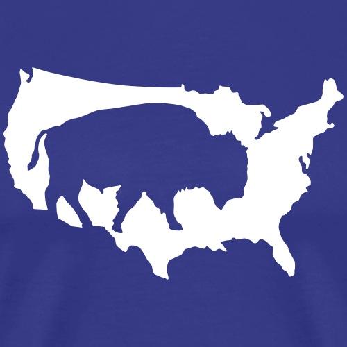 Bison Indianer Büffel Prärie Cowboys Amerika USA - Men's Premium T-Shirt