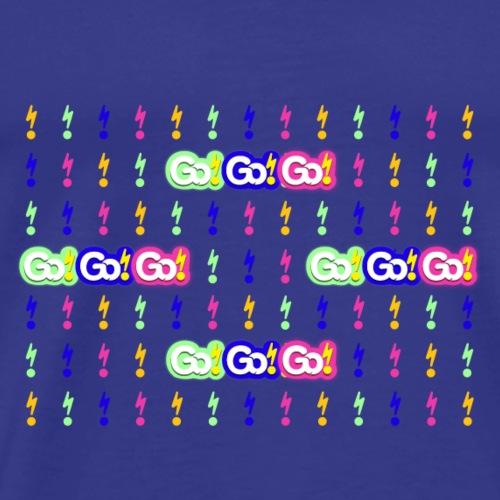 Go!Go!Go! Lightening Background Vibrant - Men's Premium T-Shirt