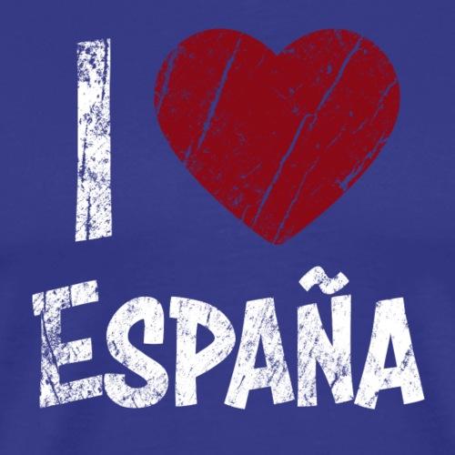 I Love España - Miesten premium t-paita