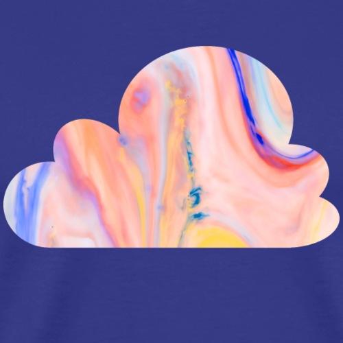 Schlichtes buntes Wolken Desgin/Symbol - Männer Premium T-Shirt