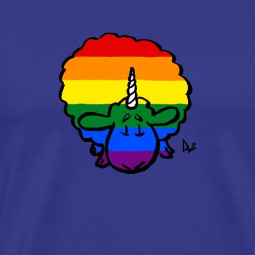 Rainbow Ewenicorn - det er en enhjørning sau! - Premium T-skjorte for menn