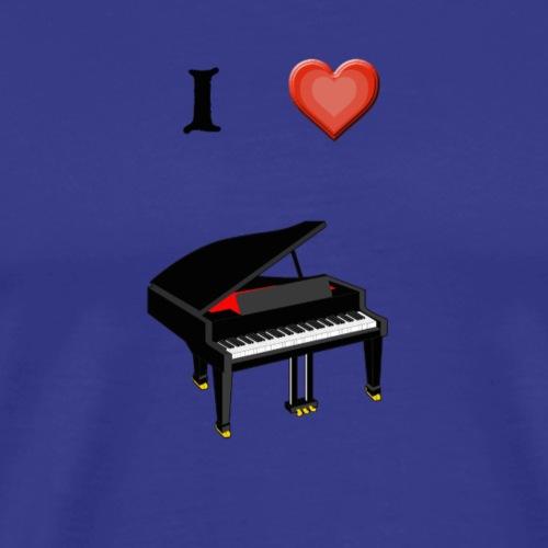 I love piano - Camiseta premium hombre