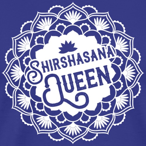 Shirshasana Queen Yoga / Blanc - T-shirt Premium Homme